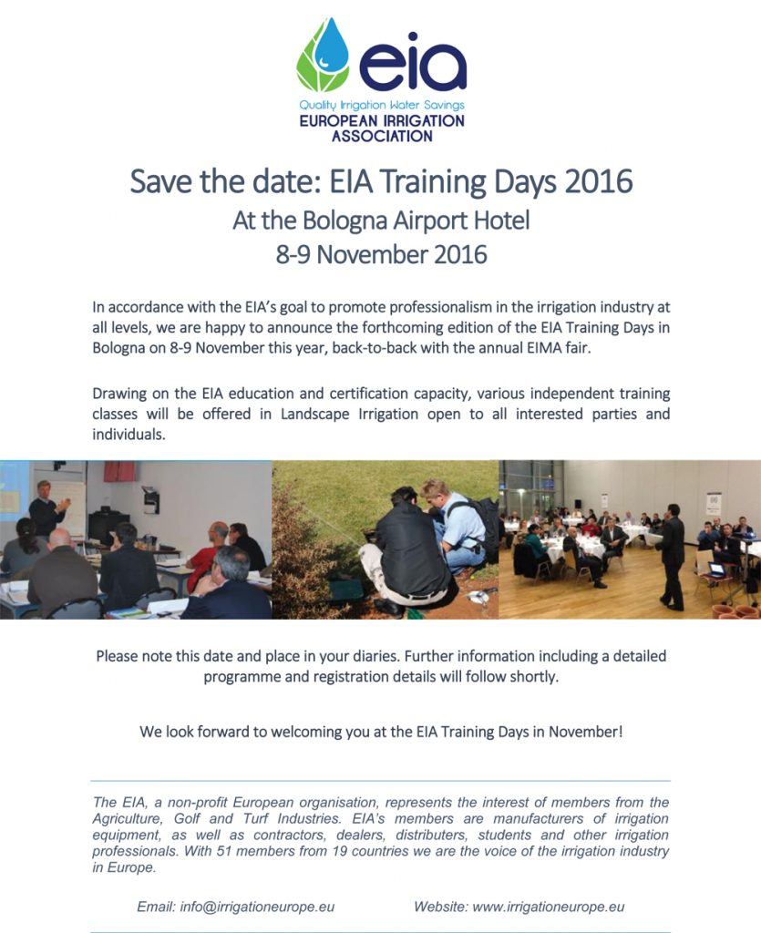 eia training days 2016